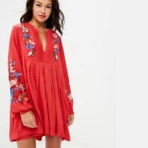 NWT Free people Mia embroidered mini dress